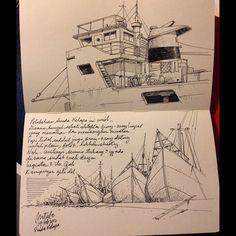Sunda Kelapa #Jakarta #sketching #sketchbook #moleskine #oldpost #drawingpen #urbansketcher