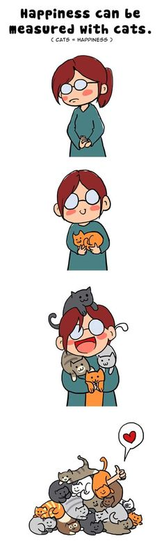 This is how Crazy Cat Ladies are Made!   Happiness Can Be Measured in Cats   @Melissa Evertson