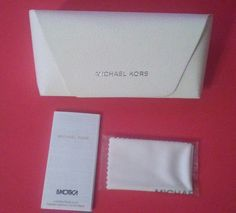MICHAEL KORS WHITE LEATHER CASE SUNGLASSES EYEGLASSES CLEANING CLOTH EYEWEAR | Health & Beauty, Vision Care, Eyeglass Cases | eBay!