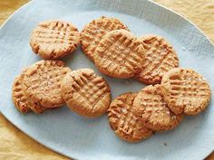 Flourless Peanut Butter Cookies Recipe : Claire Robinson : Food Network 1 cup peanut butter, 1 cup sugar, 1 egg, 1 teaspoon vanilla, sometimes I add teaspoon baking soda to make them more fluffy. Flourless Peanut Butter Cookies, Peanut Butter Cookie Recipe, Cookie Recipes, Dessert Recipes, Flourless Chocolate, Party Recipes, Peanut Cookies, Flourless Cake, Almond Cookies