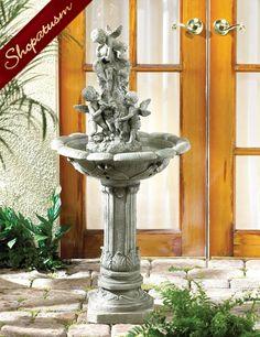 Cherubs Playing Sculpture Indoor Outdoor Garden Fountains