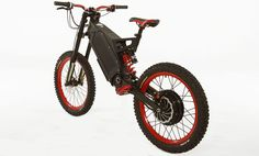 Black and Red Stealth B-52 Bomber - e-bike