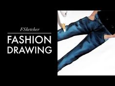 HOW TO DRAW DENIM TROUSERS | Fashion Drawing - YouTube