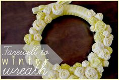 Tissue Paper Rosette Wreath