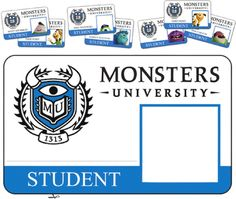 Monsters University│Monsters Inc. Monster Inc Party, Monster University Party, Monsters Inc University, Monster Inc Birthday, Monster Room, Disney University, Monster Theme Classroom, Disney Classroom, Future Classroom