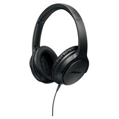 Bose SoundTrue Around-Ear Headphones with Mic (Charcoal Black) for Apple Devices