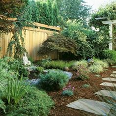 Low maintenance landscaping.