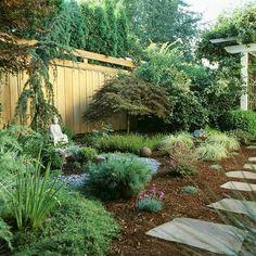 Low maintenance landscaping.