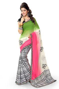 New Ethnic Indian Georgette Bollywood Designer Saree Pakistani Sari PALAV-2304A #SareeSari