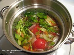 Hot Eats and Cool Reads: Save Your Scraps! How to Make Homemade Vegetable Stock