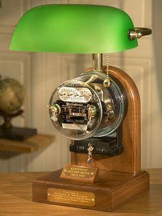 Antique Electric Meter Lamp