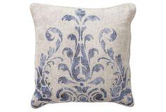Fern 18x18 Pillow, Blue on OneKingsLane.com