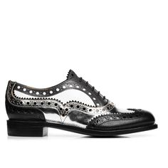 b0d916d41115 Mr. Doubt Black  amp  Silver Leather Women s Wingtip Brogue Oxford – The  Office of