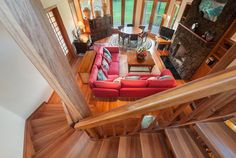 Basketball Hall-of-Famer Kareem Abdul-Jabbar built this island retreat in the with extra high doorways to accommodate his height. Move On Up, Hawaiian Homes, Wood Staircase, Hawaii Life, Celebrity Houses, Island Life, Hgtv, Home Goods, House Design