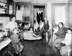 """from the book: """"How the other half lived"""" tenement buildings of NY Lower East Side in 1880's"""