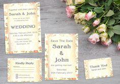 Vintage View - Printable wedding suite Printable Invitations, Invitation Cards, Invites, Wedding Invitations, Printables, Sarah Johns, Wedding Suite, Artwork Prints