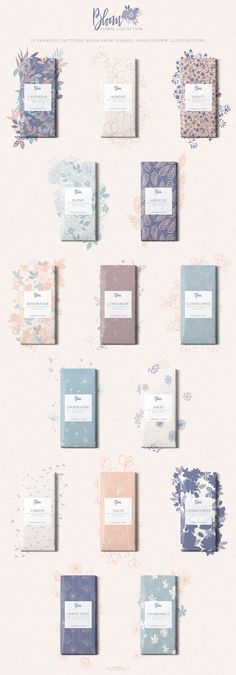 Bloom Floral Pattern Collection by The Paper Town on @creativemarket