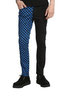 ^-^ http://www.hottopic.com/hottopic/Guys/Bottoms/Pants/Royal+Bones+Split+Leg+Black+And+Blue+Checkered+Skinny+Jeans-10063229.jsp