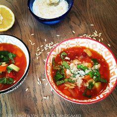 Edels Mat & Vin: Minestronesuppe med risoni 🍅 Salsa, Ethnic Recipes, Food, Essen, Salsa Music, Meals, Yemek, Eten