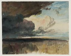 Joseph Mallord William Turner, 'Rain Clouds Approaching over a Landscape' c.1822–40