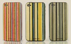 These SkateBack cases made from recycled skateboards the colorful patterned designs for iPhone 4 and are from a collaboration between Grove and Lindsay Holmes of MapleXO. Iphone Deals, New Iphone, Iphone 4s, Apple Iphone, Iphone Cases, 4s Cases, Cell Phones For Seniors, Cool Technology, Recycled Materials