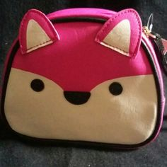 Luv Betsey Johnson Cosmetic with Ears Luv Betsey by Betsey Johnson pink fox cosmetic with ears. Adorable. Betsey Johnson Bags Cosmetic Bags & Cases