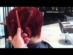 Hot Red  Bob by Kenneth, Higher graduaion