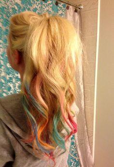 rainbow dyed tips