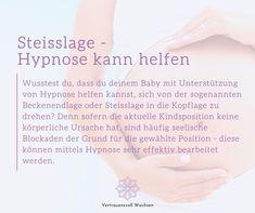 Wusstest du, dass du deinem Baby mit Unterstützung von Hypnose helfen kannst, sich von der sogenannten Beckenendlage oder Steisslage in die Kopflage zu drehen? Denn sofern die aktuelle Kindsposition keine körperliche Ursache hat, sind häufig seelische Blockaden der Grund für die gewählte Position - diese können mittels Hypnose sehr effektiv bearbeitet werden. Gerne begleite ich dich auf deinem Weg zu deiner glücklichen Geburt. #steisslage #hypnose #beckenendlage Personalized Items, Baby, Happy Birth, Pregnancy, First Aid, Knowledge, Kids, Baby Humor, Infant