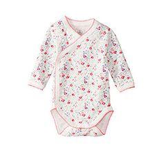 Petit Bateau US Official Online Store, PEBA-5138 Baby girl long-sleeved flower print bodysuit, petit-bateau.us  girl