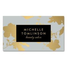 Need new business cards for your salon, interior design business, or stylish boutique? These are perfect for a chic introduction!