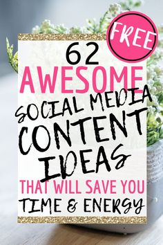 62 Awesome Social Media Content Ideas That Will Save You Time & Energy! This totally free social media  guide I've created for you includes so many amazing ideas for creating your social media content. Saving you time and energy as we have done lots of the thinking for you- leaving you time to wow your customers with some great posts and increase traffic to your page. Social Media Content, Social Media Tips, Make More Money, Make Money Blogging, Social Media Marketing Agency, Content Marketing, Amazing Ideas, Awesome, How To Stop Procrastinating