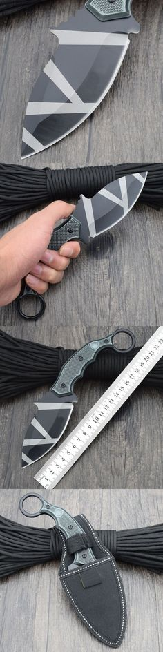Karambit Claw Survival Knife Fixed 7CR13MOV Steel Blade Knifes Hunting Tactical Knives  Nylon Sheath Camping Outdoor EDC Tools #survivalknife #tacticalknife