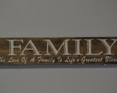 Customized or With your Family Name. With inspirational saying.  Lightly engraved