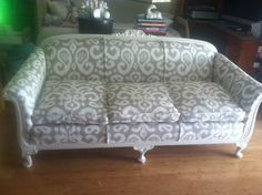 Just finished reupholstering this 100 year old couch!!!