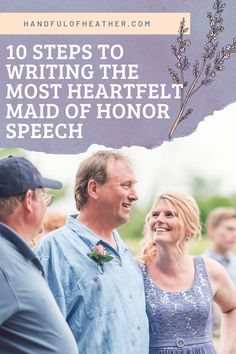 10 Steps to Writing the Most Personal & Heartfelt Maid of Honor Speech Bridesmaid Speeches, Sister Wedding Speeches, Maid Of Honor Toast, Maid Of Honor Speech, Best Friend Wedding Speech, Funeral Speech, Honor Quotes, Forest Green Bridesmaid Dresses, Speech Outline