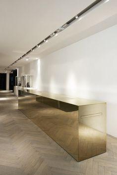 We are best in renovation work,office interior designer in Delhi,Building… Commercial Design, Commercial Interiors, Küchen Design, Store Design, Design Ideas, Retail Interior, Interior And Exterior, Gold Interior, Tinted Mirror