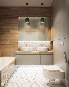 NA ŻOLIBORZU - Mała łazienka w bloku bez okna, styl nowoczesny - zdjęcie od M!kaDesign