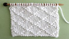 I think the elegant design of this Diamond Brocade Knit Stitch Pattern would be perfect to knit up a large pillow for my craft room. Check out FREE Knitting Pattern, Chart, Photos, and Video Tutorial by Studio Knit. Knitting Stiches, Easy Knitting Patterns, Knitting Charts, Free Knitting, Baby Knitting, Stitch Patterns, Crochet Patterns, Knitting Ideas, Simply Knitting