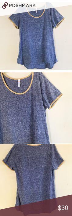 LuLaRoe Burnout Short Sleeve Tee So soft comfortable and lightweight! Amazing condition! LuLaRoe Tops Tees - Short Sleeve