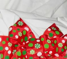 Red with Green Wire Ribbon 15 X 5 yards by ThisandThatCrafter, $5.00