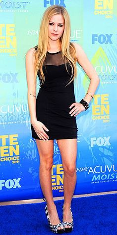 Avril Levigne 2011 Teen Choice Awards #celebrities #celebrityfashion #redcarpet