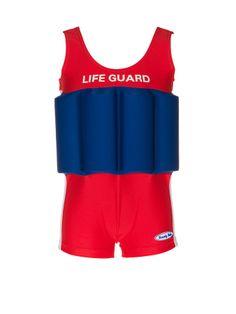 """Traje de banho para menino com proteção, bóia embutida """"Life Guard"""" 18 M a 5 anos"""