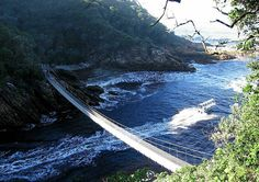 The Tsitsikamma National Park is situated in the heart of the famous Garden Route in South Africa. The park offers some fine coastal scenery and sometimes the option of whale-watching. Tsitsikamma National Park, Famous Gardens, Spa Treatments, Africa Travel, Continents, Places Ive Been, South Africa, Coastal, National Parks