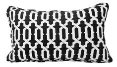 Contemporary Black and White Throw Pillow