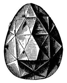 antik schmuck: Sancy, Jahrgang gravierte Darstellung. Industrielle Enzyklopädie E.-O. Lami - 1875.