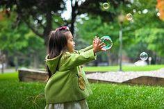 Girl, Child, Bubbles, Childhood
