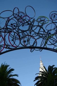 Gateway of bicycle parts - Jack London Square, Oakland, CA. Don't forget this Thursday is Bike to Work Day in Oakland!
