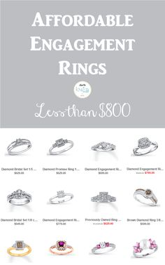 Affordable Engagement Rings | Less Than $800 - KnotsVilla