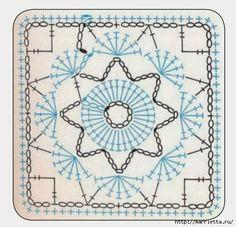 Crochet Granny Squared - Chart ❥ 4U // hf http://www.pinterest.com/hilariafina/